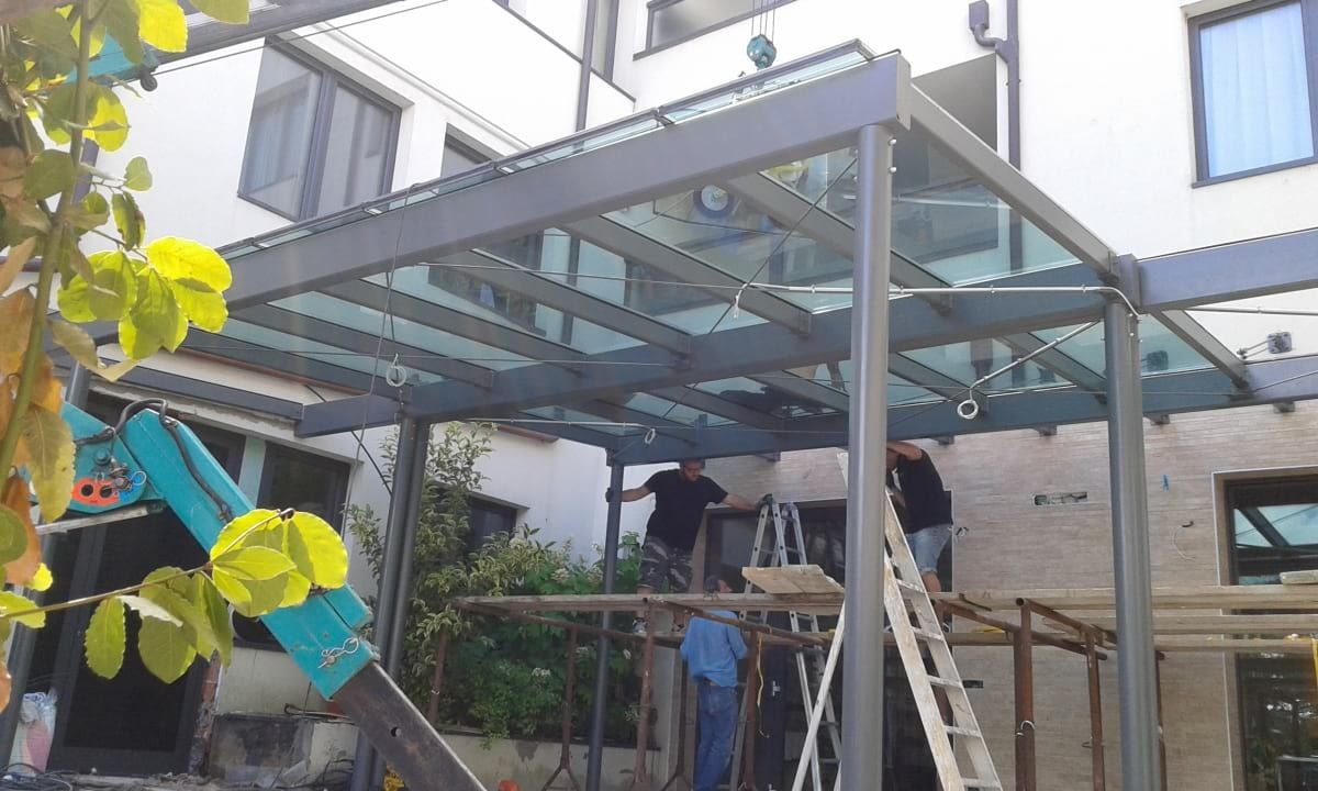 Metal structure glass covers