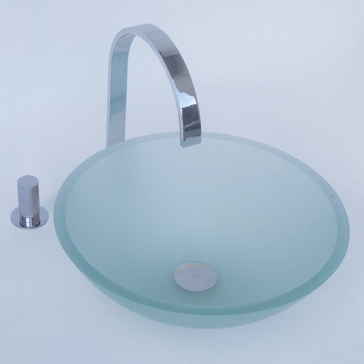 Crystal washbasin with satin glass finish