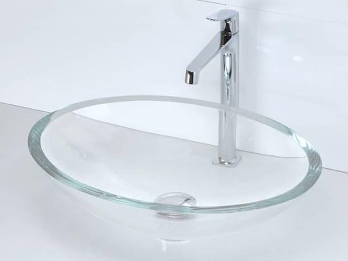Oval crystal washbasin