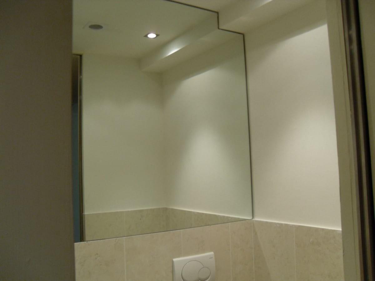 Bathroom niche mirror coating