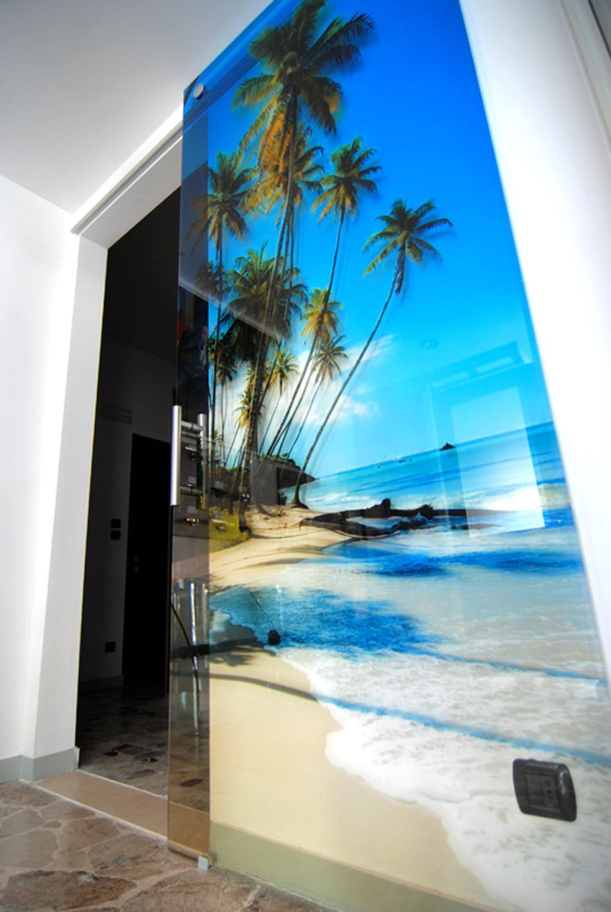 Glass door photo printing