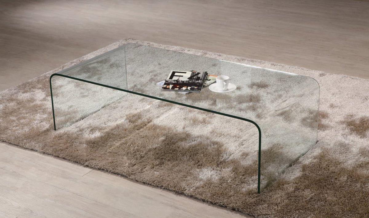 Crystal coffee table